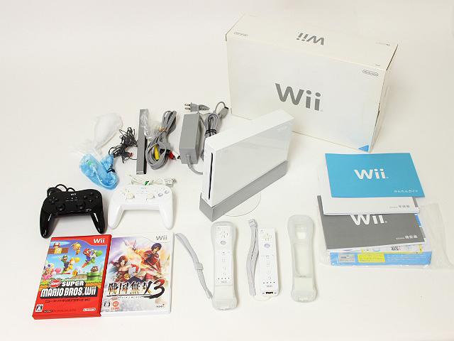 任天堂 Wii本体ホワイト・ソフト2本・周辺機器一式 買取